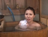 Big Tit Asian milf Sophia Takigawa in hot bath sex on voyeur cam picture 5