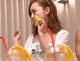 Rino Kirishima enjoys two dicks to slam her holes