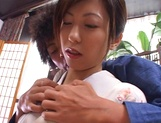 Gorgeous Asian sedcutress banged hard and creamed picture 13