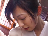 Gorgeous Asian sedcutress banged hard and creamed