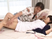 hottie with round tits Airi Mikami enjoys pussy lick and hardcore ride