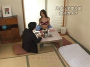 Japanese sex video along milf in black lingerie