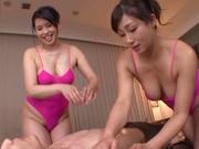 Threesome with Kirishima Ayako and Miyabe Suzuka