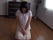 Gorgeous cutie Tsujii Yuu pounds her cunt with dildo
