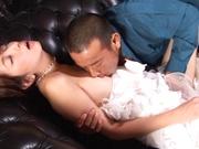 cock sucking wife endures harsh fuck on cam