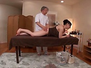Cute Asian milf likes getting her wet muff finger banged