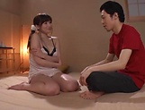 Busty Chino Azumi has her hole nailed deep
