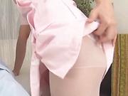 Alluring Asian babe pleasing a stiff pole