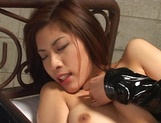 Nice JP milf Riko Tachibana in latex costume enjoying hardcore cosplay picture 15