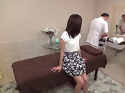 Hot beauty getting an explicitly arousing massage