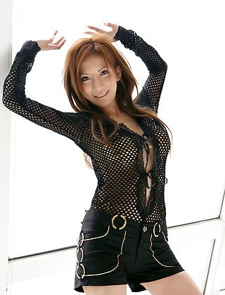 Mirai Japanese Model Is Into Leather And Fishnets