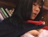 Misaki Saya Sltty Asian School Girl Masturbates In The Library picture 14