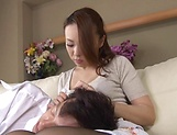 Hungry stud touches Sawaki Erika wet spot with hard pecker picture 13