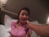 Japanese mature ravished in POV by a young stud