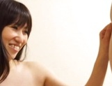 Horny Japanese mature babe loves playing with cock picture 11
