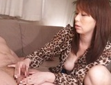 Amateur milf provides excellent handjob, gets cumshot picture 13