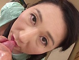 Alluring Japanese milf blows and rides good