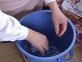 Mature Shinobi Igarashi has her pussy nailed picture 11