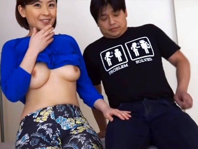 Busty mature babe teasing