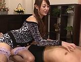 Nanami Hirose, mature Asian babe dominates with facesitting