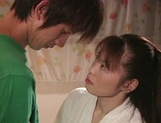Hot Japanese mature woman seduces a young handsome guy picture 10
