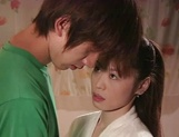 Hot Japanese mature woman seduces a young handsome guy picture 13
