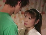 Hot Japanese mature woman seduces a young handsome guy picture 14
