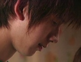Hot Japanese mature woman seduces a young handsome guy picture 15