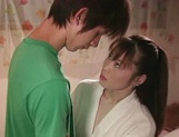Hot Japanese mature woman seduces a young handsome guy