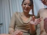 Sexy mature Asian babe sucks cock and swallow jizz