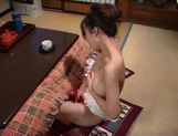 Perfect solo along a busty Japanese mature picture 12