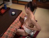 Perfect solo along a busty Japanese mature picture 15