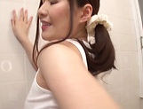 Sexy Japanese AV model gets banged in the bathroom picture 9