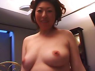 Busty mature Japanese AV model receives harsh stimulation with toys