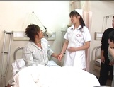 Nurse Ai Takeuchi with big tits takes good care of cock picture 12