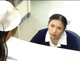 Nurse Ai Takeuchi with big tits takes good care of cock picture 2