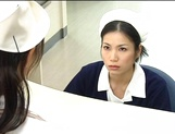 Nurse Ai Takeuchi with big tits takes good care of cock picture 4