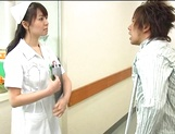 Nurse Ai Takeuchi with big tits takes good care of cock picture 6