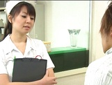 Nurse Ai Takeuchi with big tits takes good care of cock picture 8