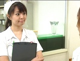 Nurse Ai Takeuchi with big tits takes good care of cock picture 9