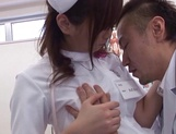 Hot Japanese nurse spreads legs for a huge cock picture 12