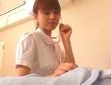 Naughty Japanese AV gal is a nurse banged by her patient picture 10