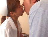 Naughty Japanese AV gal is a nurse banged by her patient picture 12