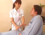 Naughty Japanese AV gal is a nurse banged by her patient picture 7
