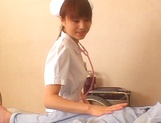 Naughty Japanese AV gal is a nurse banged by her patient picture 9