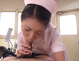 Sexy Asian nurse gives a wicked head before sex picture 12