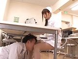 Lucky guy gets to fuck two hot Japanese nurses picture 12