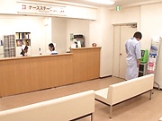 Lucky guy gets to fuck two hot Japanese nurses