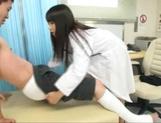 Ayaka Tomoda wild Asian nurse enjoys an amateur cock picture 11