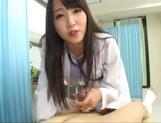Ayaka Tomoda wild Asian nurse enjoys an amateur cock picture 15